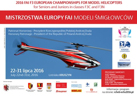 2016 FAI F3 EUROPEAN CHAMPIONSHIPS for MODEL HELICOPTERS