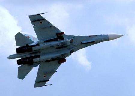 Air Show Radom 2009 - Su-27 jeszcze w powietrzu