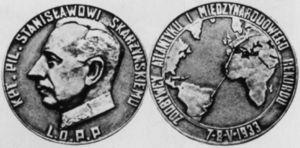 Medal wybity na cześć Stanisława Skarżyńskiego