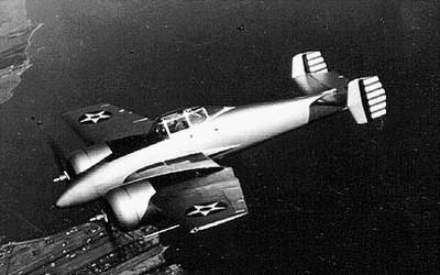 Grumman XP-50 - w locie