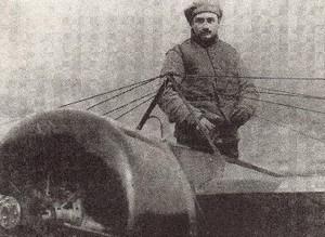 Roland Garros w jego Morane-Saulnier G 160 HP, na którym wygrał zawody Monaco Rally w czerwcu 1914.