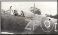 Edward Jaworski - w samolocie