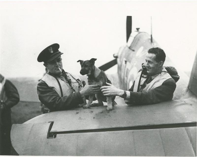 Dwaj piloci Dywizjonu 303 - Jan Zumbach z lewej i Mirosław Ferić. Archiwum prywatne Autora