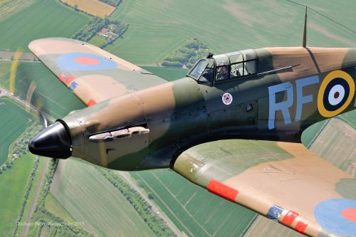 10. Hurricane in RF-E P3700 markings flying  Richard Paver Photography