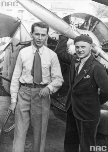 Stanisław Wigura i Franciszek Żwirko 1932