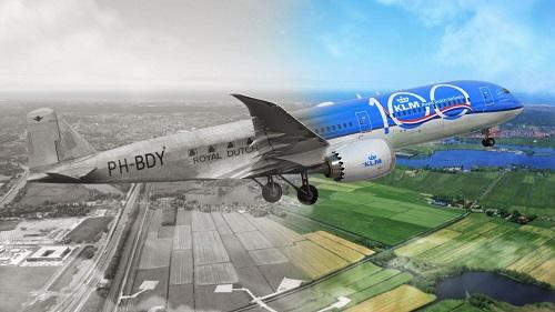 samolot KLM dawniej i dzis_m.jpg