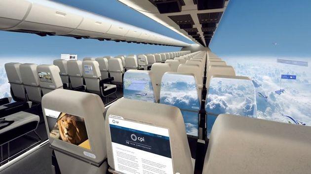 samolot bez okien
