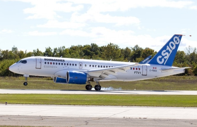 Bombardier CS100 fot. Bombardier