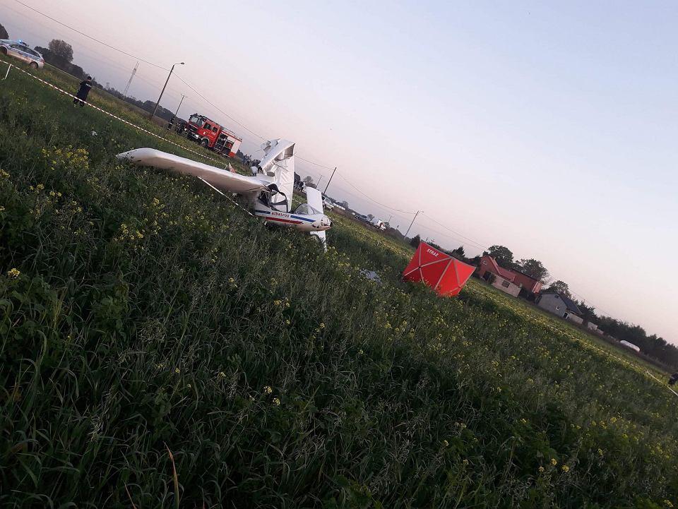 z25308767V,Wrak-rozbitego-samolotu-pod-Klodawa.jpg