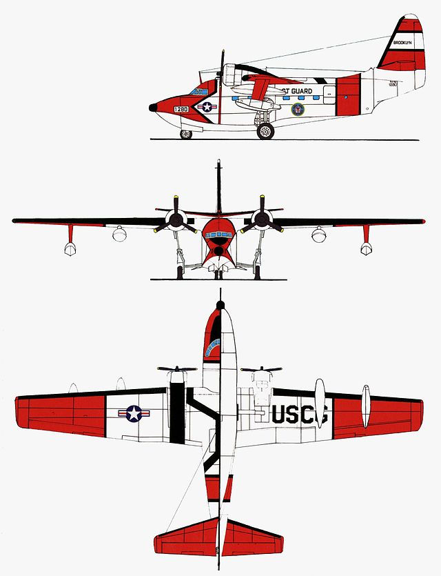 Grumman HU-16E coloured drawings