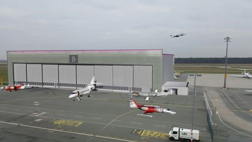 A rendering of completed FAI Hangar 8