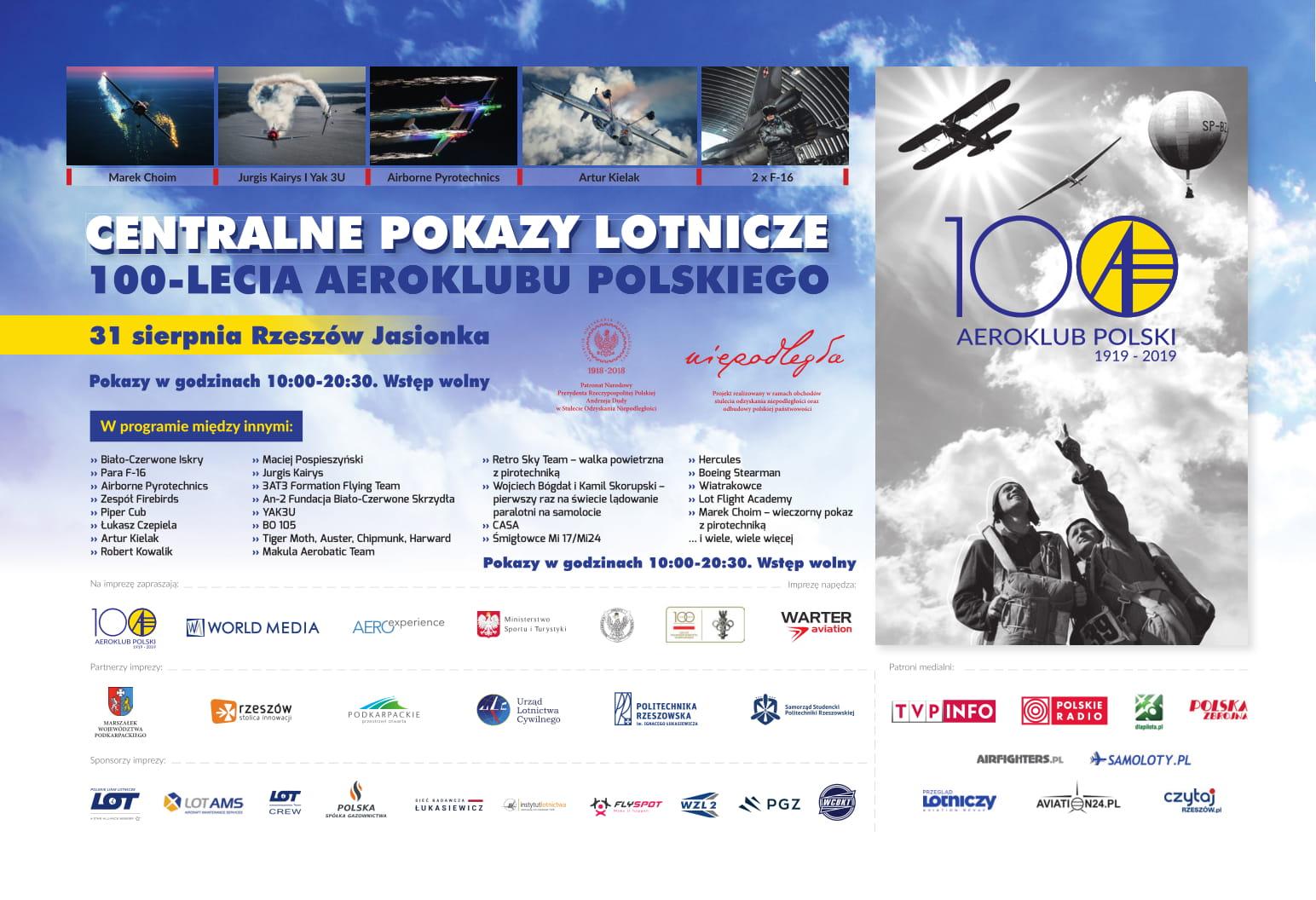 Centralne Pokazy Lotnicze z okazji 100-lecia Aeroklubu Polskiego